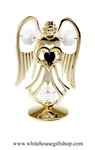 Gold Guardian Angel Birthstone Collection: January with Deep Garnet Colored Swarovski® Crystals