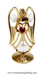 Gold Guardian Angel Birthstone Collection: July with Ruby Red Colored & Clear Swarovski® Crystals
