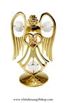 Gold Guardian Angel Birthstone Collection: June with Light Alexandrite Colored & Clear Swarovski® Crystals