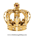 Gold Royal King's Crown Ornament with Swarovski® Crystals