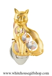Gold Kitty Cat nightlight with Swarovski® Crystals