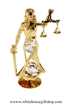 Gold Lady Justice Table Top Display with Swarovski® Crystals