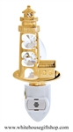 Gold Classic Light House with Cottage Nightlight with Swarovski® Crystals
