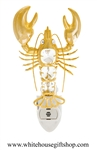 Gold Lobster Nightlight with Swarovski® Crystals