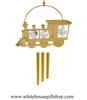 Gold Classic Steam Locomotive Circle Chime Ornament with Swarovski® Crystals