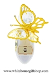 Gold Mini Butterfly Nightlight with Swarovski® Crystals