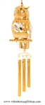 Crystal Gold Wish Owl chime Ornament with Swarovski® Crystals