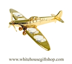 Gold Single Propeller Plane Ornament