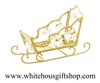 Gold Santa's Holiday Sleigh Ornament with Swarovski Crystals