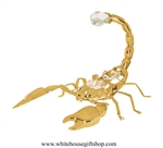 Gold Desert Scorpion Ornament with Swarovski Crystals