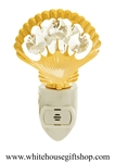 Gold Sea Shell Nightlight with Swarovski® Crystals