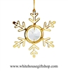 Gold Classic Star Snowflake Ornament
