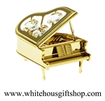 Gold Steinway Grand Piano Ornament