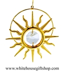 Gold Sun Ornament Swarovski Crystals