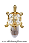 Gold Eastern River Turtle Nightlight with Swarovski® Crystals