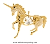 Gold Unicorn Ornament with Swarovski Crystals