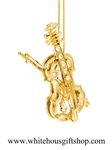 Gold Violin & Bow Ornament