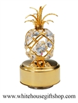 Gold Pineapple Music Box with Swarovski® Crystals