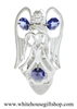 Silver Angel Holding a Heart Nightlight with Swarovski® Crystals