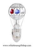 Silver Mini Hot Air Balloon Nightlight with Swarovski® Crystals