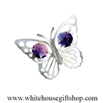 Silver Mini Butterfly Magnet/ Sun Catcher Window Cling with Swarovski® Crystals