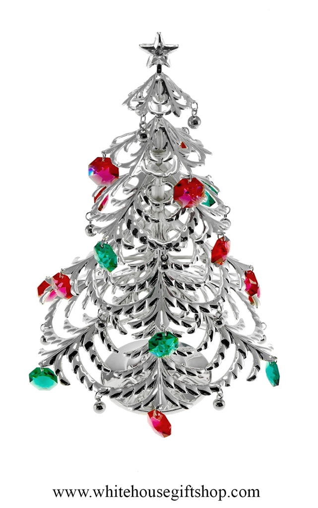 larger photo - Silver Plated Christmas Tree Decorations