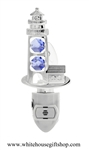 Silver Light House & Cottage Nightlight with Swarovski® Crystals