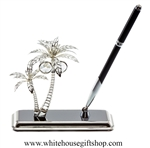 Palm Trees with White House Pen