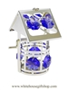 Silver Classic Wishing Well Ornament with Violet Swarovski Crystals