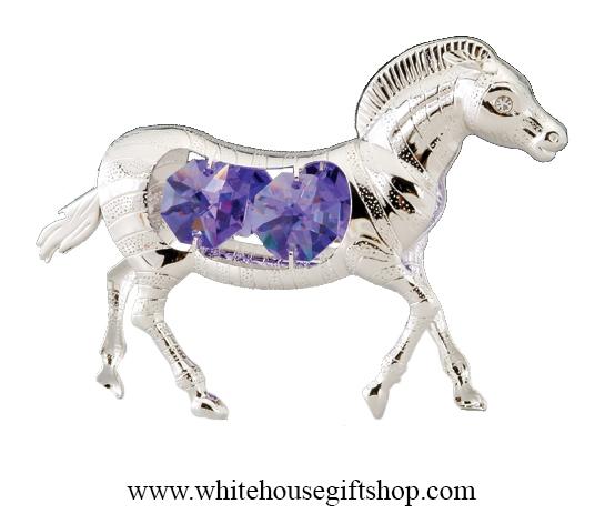 ecd5afc70 Ornament, Silver Zebra Ornament or Desk Model, Royal Purple ...