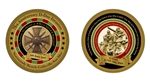 DDAY COIN, D-DAY, LIMITED TO 1000 COINS, edge numbered, certificate of  Authenticity  from The Official White House Gift Shop. honors veterans in WWII, Normandy Beaches, June 6, 1944.