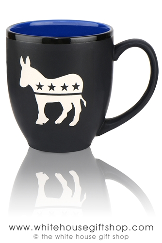 Democratic Party Bistro Mug, Etched in USA