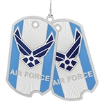 Air Force Ornament, USA, Military ornaments USAF, high quality silver finish, Made in America