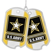 Army Ornament, USA, Military ornaments ARMY GO, high quality silver finish, Made in America