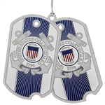 USCG Ornament, USA, Military ornaments Coast Guard , high quality silver polished finish, Made in America