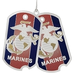 Marine Ornament, USA, Military ornaments Marine, high quality silver finish, Made in America