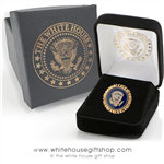 Scalloped Presidential Eagle Lapel Pin