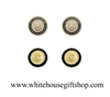 President & Whitre House Cufflinks, Set of 2 pair, 24K gold finished,  Presidential Seal, custom jewelry cases, as worn by Presidential