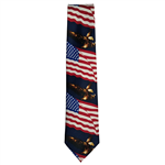 Majestic Eagle and American Flags Neck Tie from the Official White House Gift Shop