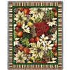 American Fruit and Flora Throw, Blanket, SEE Matching High Quality Pillow, 100% Cotton, Made in USA