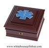 EMS,  Emergency Medical Services Award First Responder Jewelry Keepsake Box, Made in America, USA, Fine Wood, from White House Gift Shop, Gift Boxed