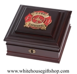 Firefighter Shield,  First Responder Emergency Rescue Services, Made in USA, American Made, Keepsake, Memory Box, from White House Gift Shop, Washington D.C.