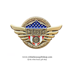 First Responders, Heroes of COVID-19, Gold Pin for Lanyard, Uniform, or Lapel. The original Secret Service White House Gift Shop.