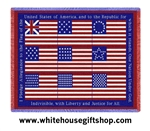 American Flag Pledge of Allegiance Throw Blanket
