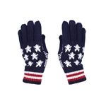 Knit Stars and Stripes winter gloves