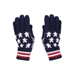 Knit Flag Stars and Stripes winter gloves