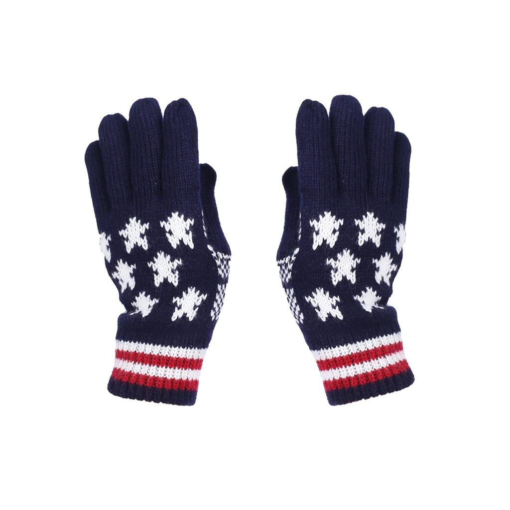 Knit USA Flag Winter Gloves for Women