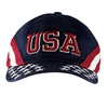 USA Cap, Patriotic Hat, Hats, American Flag caps, adjustable tab, 100% Brushed Cotton