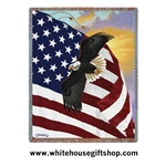 Great Eagle of the United States, American Flag Blanket