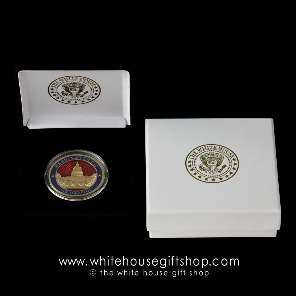 """BLUE VELVET Presentation //Gift Box for 1 1//2/"""" CHALLENGE COIN"""